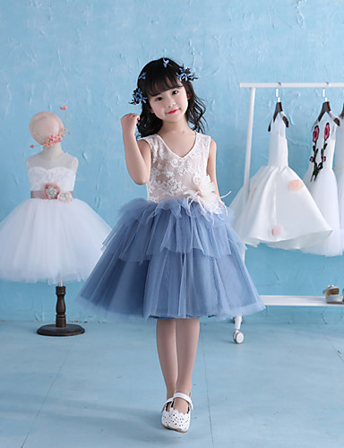 1c47e515f705 Φόρεμα κορίτσι λουλουδιών κορίτσι φόρεμα με δαντέλα - δαντέλα σατέν τούλι  χωρίς μανίκια με λουλούδι 5724385 2019 –  69.99