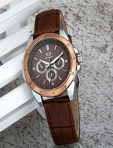 สำหรับผู้หญิง นาฬิกาแฟชั่น นาฬิกาอิเล็กทรอนิกส์ (Quartz) หนัง น้ำตาล ระบบอนาล็อก ไม่เป็นทางการ - กาแฟ