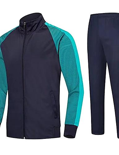preiswerte Fußball-Hemden und Shorts-Unisex Fußball Sportkleidung Atmungsaktiv Komfortabel Fussball Solide Terylen Marinenblau Himmelblau Rot