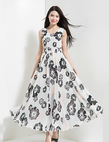 547bd56cbd08 Γυναικείο Εξόδου Καθημερινά Γιορτή Βίντατζ Μπόχο Σιφόν Swing Φόρεμα ...