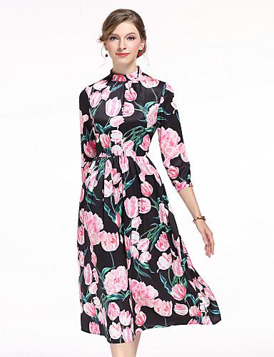 456fec4577 Mujer Línea A Vestido Casual Diario Bonito