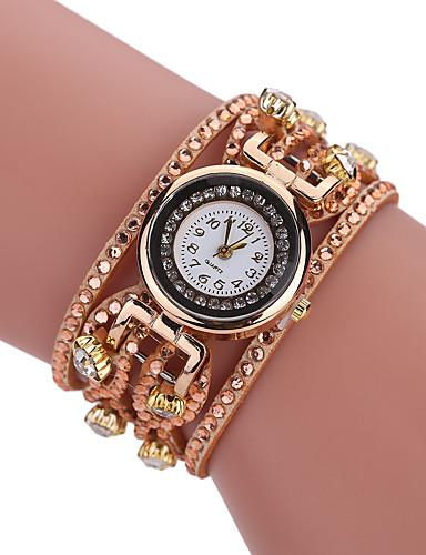 [$8 39] Women's Bracelet Watch / Simulated Diamond Watch Chinese Imitation  Diamond PU Band Vintage / Casual / Bohemian Black / White / Blue / One Year
