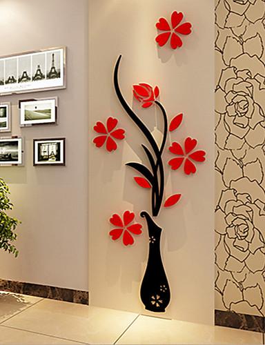 preiswerte Botanische Wandsticker-Weihnachten Romantik Blumen Wand-Sticker 3D Wand Sticker Dekorative Wand Sticker,Vinyl Stoff Haus Dekoration Wandtattoo