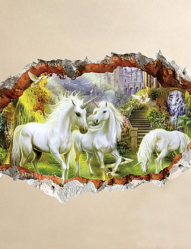 preiswerte Tier Wandsticker-Tiere Cartoon Design 3D Wand-Sticker Flugzeug-Wand Sticker 3D Wand Sticker Dekorative Wand Sticker, Vinyl Haus Dekoration Wandtattoo Wand