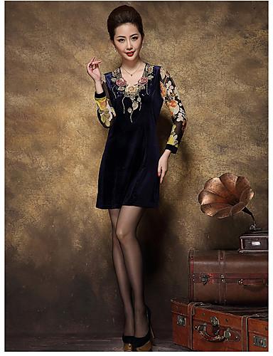 89c48b13bdda 225 σημάδι χρυσό βελούδινο μακρυμάνικο φόρεμα μέσης ηλικίας της μητέρας  φόρεμα καλοκαιρινό φόρεμα high-end φούστα 2016 5707675 2019 –  14.99