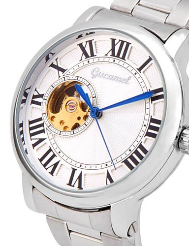 สำหรับผู้ชาย นาฬิกาแฟชั่น นาฬิกาอิเล็กทรอนิกส์ (Quartz) สแตนเลส เงิน ระบบอนาล็อก ไม่เป็นทางการ - สีเงิน / สีขาว ทอง / สีขาว Black / Silver
