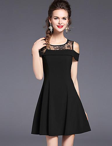 Vestidos en color negro ala rodilla