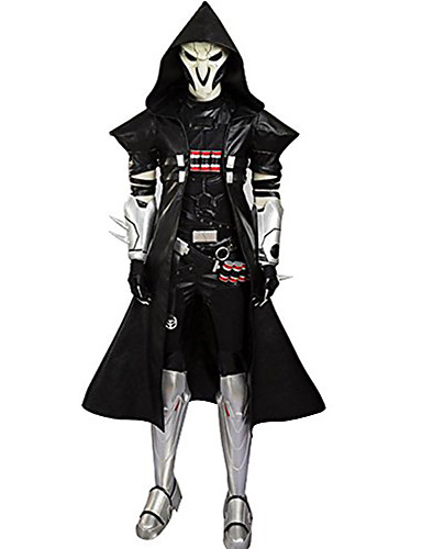 cheap Anime Costumes-Inspired by Overwatch Cosplay Anime Cosplay Costumes Japanese Cosplay Suits Patchwork Coat Belt For Men's