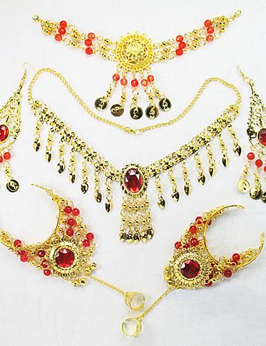 preiswerte Tanzzubehör-Bauchtanz Kopfbedeckungen Damen Leistung Metall Halsketten / Kopfbedeckung / Armbänder