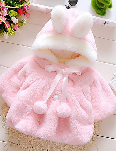 preiswerte Ausverkauf-Baby Mädchen Zum Kleid Alltag / Festtage / Ausgehen Solide Langarm Standard Standard Baumwolle Daunen & Baumwoll gefüttert Weiß