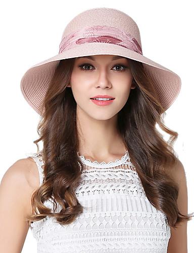 Mujer Primavera Verano Otoño Vintage Bonito Fiesta Trabajo Casual Hilo Sombrero  Playero Sombrero de Paja f5538374cb9