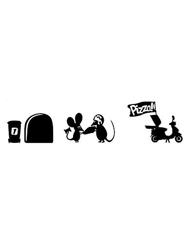 preiswerte Tier Wandsticker-Tiere Lebensmittel Cartoon Design Wand-Sticker Flugzeug-Wand Sticker Dekorative Wand Sticker, Vinyl Haus Dekoration Wandtattoo Wand Glas
