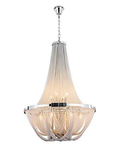 preiswerte AutumnSaleBrandsArea-Ecolight™ 8-Licht Empire-Stil Kronleuchter Raumbeleuchtung Galvanisierung Metall LED, Candle-Art 110-120V / 220-240V Glühbirne nicht inklusive / E12 / E14