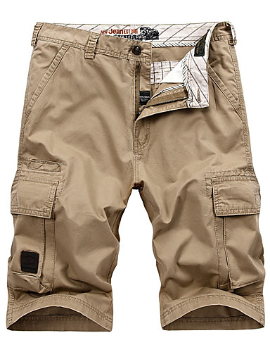 cheap Hiking Trousers & Shorts-Men's Hiking Shorts Hiking Cargo Shorts Outdoor Breathable Soft Comfortable Wear Resistance Cotton Shorts Bottoms Camping / Hiking Hunting Fishing Hunter Green Red Blue 30 31 32 33 34 / Multi Pocket