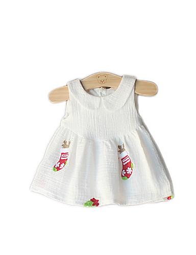9be02d41a54 Dítě Dívčí Volánky Jednobarevné   Květinový Bez rukávů Bavlna Šaty    Toddler 5871563 2019 –  13.96
