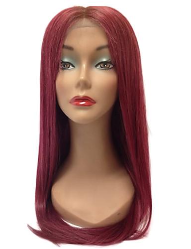 povoljno Perike s ljudskom kosom-Remy kosa Perika s prednjom čipkom bez ljepila Lace Front Perika stil Brazilska kosa Ravan kroj Perika 130% Gustoća kose s dječjom kosom Ombre Prirodna linija za kosu Afro-američka perika 100% rađeno