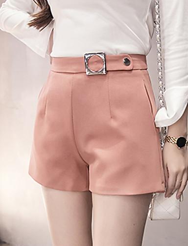 ab2ca54761973 Mujer Chic de Calle   Moda   Coreano Tiro Alto Algodón Corte Recto    Perneras anchas   Shorts Pantalones - Un Color Lentejuelas 5797477 2019 –   13.99