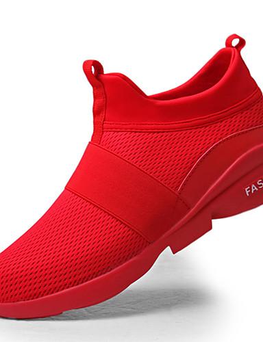 billige Shoes & Bags Must-have-Herre Komfort Sko Gummi Vår / Høst Sportssko Hvit / Rød / Grå / utendørs / EU40