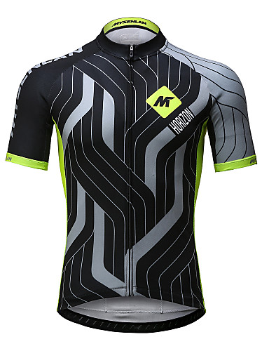 495f42ac02d Mysenlan Men's Short Sleeve Cycling Jersey - Green+Gray Bike Jersey Top  Breathable Quick Dry Sports Polyester Mountain Bike MTB Road Bike Cycling  Clothing ...