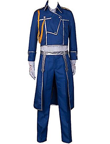 povoljno Maske i kostimi-Inspirirana Fullmetal Alchemist Roy Mustang Anime Cosplay nošnje Japanski Cosplay Suits Jednobojni Kaput / Hlače / šal Za Muškarci