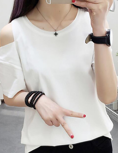 6d80d87a0b Women s Birthday Office Career Business Athletic Other Daily Casual  Birthday Party Sexy Casual Summer T-shirt 5977026 2019 –  13.79
