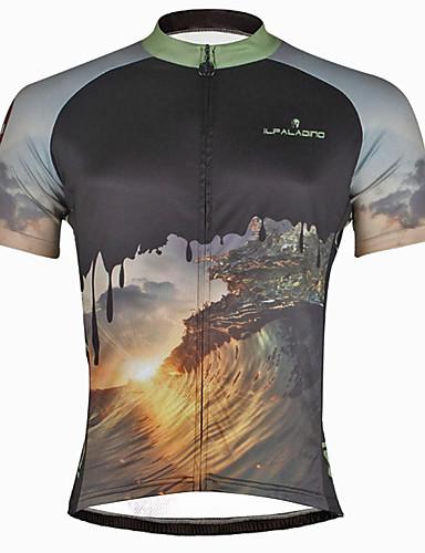 povoljno Biciklističke majice-ILPALADINO Muškarci Kratkih rukava Biciklistička majica Lubanje Bicikl Biciklistička majica Majice Brdski biciklizam biciklom na cesti Quick dry Ultraviolet Resistant Reflektirajuće trake Sportski