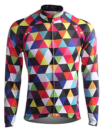 povoljno Biciklističke majice-21Grams Muškarci Žene Dugih rukava Biciklistička majica Argyle Veći konfekcijski brojevi Bicikl Sportska majica Biciklistička majica Majice Prozračnost Quick dry Reflektirajuće trake Sportski