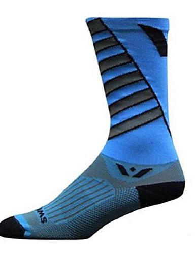 povoljno Biciklističke čarape-Kompresija čarape Sport čarape / atletske čarape Biciklističke čarape Muškarci Žene Trčanje Camping & planinarenje Badminton Bicikl / Biciklizam 1 par Zima Najlon Spandex Svijetlo zelena Crno