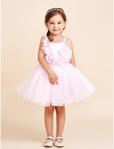 a5257b05e57c Φόρεμα κορίτσι φόρεμα λουλουδιών κορίτσι μήκος - βαμβάκι σιφόν τούλι  αμάνικο λουρί με λουλούδι 5716915 2019 –  44.99