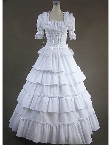 Steam-Punk-Victorian-Edwardian-Cosplay-LONG TIERED COTTON PETTICOAT All Sizes