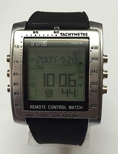 58696c1fc2f3 Hombre Juventud Reloj Deportivo Reloj digital Digital LED Mando a Distancia  Calendario Cronómetro Noctilucente Silicona Banda Casual Negro 5974303 2019  – ...