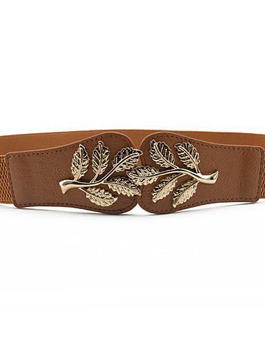 voordelige Mode-accessoires-Dames metallinen / Jurk Belt Bloemen / Metallic Stof / Legering, Effen Gesp -  / PU