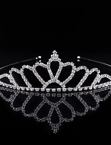 voordelige Koninklijke trouwjurken-Kristal / Strass / Legering tiaras / hikinauhat met 1 Bruiloft / Speciale gelegenheden / Feest / Uitgaan Helm