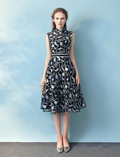 Plesové šaty vysoké šaty čaj délka krajka koktejlové party šaty s páskou  6013402 2019 –  89.99 25530697d5