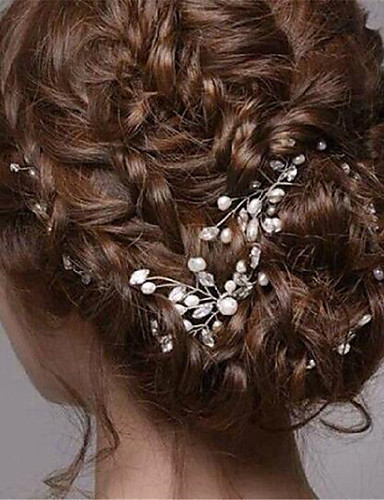 cheap Clearance-Imitation Pearl / Rhinestone Hair Pin with 1 Wedding / Special Occasion / Halloween Headpiece