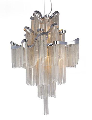 preiswerte AutumnSaleBrandsArea-8-Licht Kronleuchter Raumbeleuchtung Galvanisierung Metall Designer 110-120V / 220-240V / E12 / E14