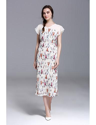68e54e2336 Pochwa Sukienka Damskie Wyjściowe Codzienne Prosta Kwiaty