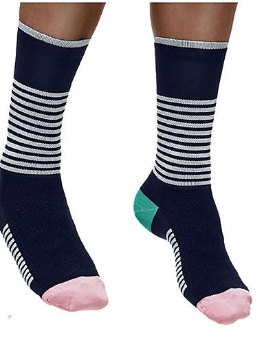 povoljno Odjeća za vožnju biciklom-Kompresija čarape Sport čarape / atletske čarape Biciklističke čarape Muškarci Žene Biciklizam / Bicikl Trčanje Bicikl / Biciklizam Anatomski dizajn Protective 1 par Zima Najlon Spandex White-Black