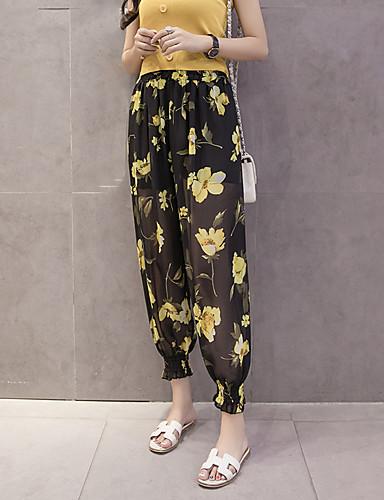 Femme Boheme Chic De Rue Skinny Sarouel Ample Pantalon Fleur
