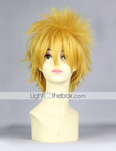 levne Cosplay paruky-Naruto cosplay Cosplay Paruky Pánské 14 inch Horkuvzdorné vlákno Žlutá Anime