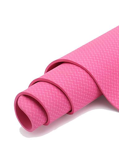 povoljno Vježbanje, fitness i joga-Joga Mats Non Slip TPE Za Pinky Ljubičasta Zelen