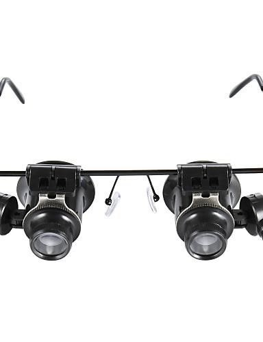 billige Utstyr og verktøy-briller skriver 20x magnifier med hvitt LED lys