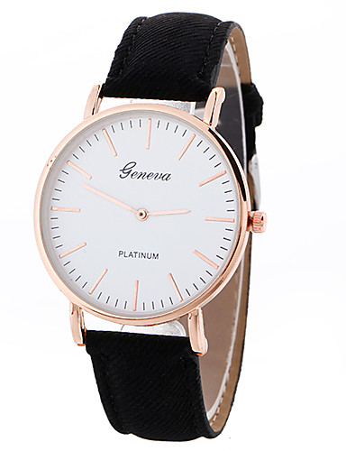 Geneva Mujer Reloj Deportivo Reloj de Pulsera Cuarzo Piel Negro   Blanco    Marrón Creativo Reloj Casual Cool Analógico damas Encanto Lujo Casual Moda  ... 75f525a742eb