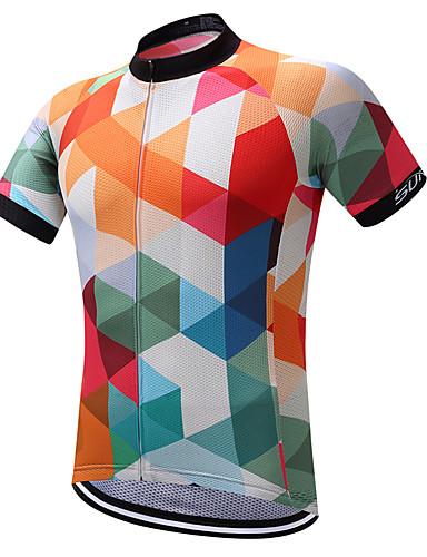 povoljno Biciklističke majice-SUREA Muškarci Biciklistička majica Argyle Bicikl Shirt Sportska majica Biciklistička majica Brdski biciklizam biciklom na cesti Quick dry Reflektirajuće trake Izzadás-elvezető Sportski Poliester