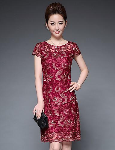 6320e4679a Mujer Línea A Vaina Vestido Fiesta Tallas Grandes Tejido Oriental ...