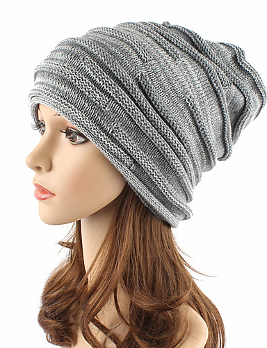 710b4cef6060d Unisex Headwear Chic   Modern Knitwear Acrylic Beanie   Slouchy Floppy Hat-Solid  Colored Pure Color Fall Winter Gray Wine Khaki   Cute 6044368 2019 –  10.99