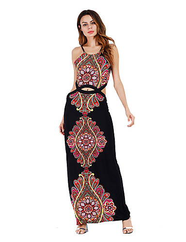 7bd3619b118f Women's Party / Holiday / Club Vintage / Street chic Bodycon / Sheath Dress  - Pattern / Flower / Floral / Lace Knitted Strap Summer Black Red M L XL  6009690 ...