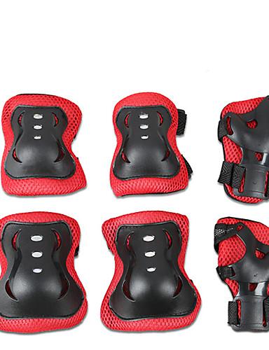 billige tilbud Oprydningsudsalg-Beskyttende Redskaber / Knæbeskyttere, albuebeskyttere og håndledsbeskyttere for Is Skøjtning / Skateboarding / Inlinere Ridssikker / Anti-Friktion / Stødsikker 6 pak Udendørsbeklædning PVC