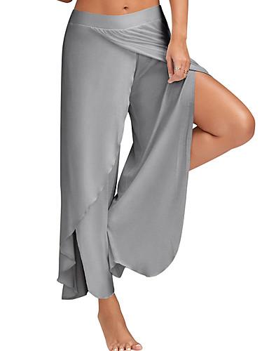7a96278e2ca Mujer Casual Tallas Grandes Corte Ancho Perneras anchas Pantalones - Un  Color Separado Azul claro 6062965 2019 –  13.59