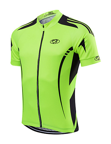 cheap Cycling Jerseys-Fastcute Men's Cycling Jacket Polyester Yellow Red Light Green Bike Jersey Mountain Bike MTB Road Bike Cycling Sports Clothing Apparel / Quick Dry / Stretchy / Advanced / Advanced